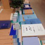 blue paper お家で紙遊び